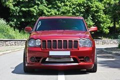 Kyiv, UA - September 18, 2012. Jeep Grand Cherokee SRT8 royalty free stock photography