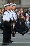 KYIV, UCRÂNIA - 24 DE AGOSTO DE 2016: Parada militar em Kyiv, dedicado ao Dia da Independência de Ucrânia Ucrânia comemora 25o Foto de Stock Royalty Free