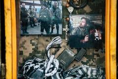 Kyiv/Ucrânia - 08/29/2018 de Memorial Day das vítimas da guerra Russo-ucraniana Memorial Day de Ilovaisk 2014 Foto de Stock Royalty Free
