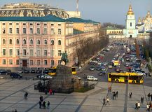 Kyiv, Ucrânia Vista da cidade de uma altura fotografia de stock