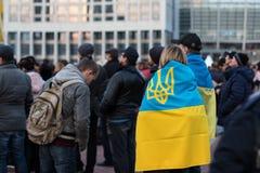Kyiv, Ucr?nia 19 de abril de 2019 Debate presidencial 2019 do A Est?dio de Kyiv Olympiyskiy fotos de stock