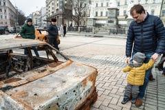 KYIV, UCRÂNIA - 25 de fevereiro de 2015 fotos de stock