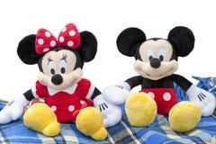 KYIV, UCRAINA - 5 agosto 2017: la figura di Mickey Mouse e di Minnie Mouse dal carattere di Disney Questo carattere dagli ani Fotografia Stock Libera da Diritti