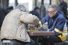 KYIV, UCRAINA - 18 ottobre 2015: Il parco di Shevchenko è il posto più popolare a Kiev Immagini Stock Libere da Diritti