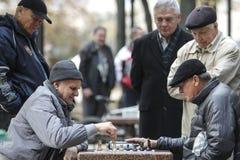 KYIV, UCRAINA - 18 ottobre 2015: Il parco di Shevchenko è il posto più popolare a Kiev Fotografie Stock
