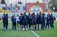 KyiV, UCRAINA - 2 settembre 2016: Gruppo della gioventù dei calciatori del Fra Fotografie Stock