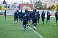 KyiV, UCRAINA - 2 settembre 2016: Gruppo della gioventù dei calciatori del Fra Immagini Stock