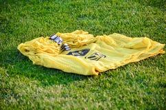 KyiV, UCRAINA - 2 settembre 2016: Shir giallo di addestramento di calcio Fotografie Stock