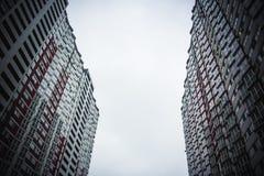 Kyiv, Ucrania Alto edificio Casa de apartamento imágenes de archivo libres de regalías