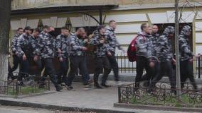 Kyiv, Ucrania 9 de abril de 2019 Los activistas y los partidarios del partido pol?tico del cuerpo nacional asisten a una reuni?n