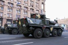 KYIV, UCRANIA - 24 DE AGOSTO DE 2016: Desfile militar en Kyiv, dedicado al Día de la Independencia de Ucrania Ucrania celebra 25t Foto de archivo