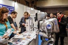 KYIV, UCRANIA - 24 DE FEBRERO DE 2016: Innovación y tehnologies Imágenes de archivo libres de regalías