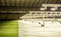 Kyiv, Ucrania - 2 de marzo de 2017: NSC Olimpiiskiy Estadio de fútbol central en Ucrania Fotos de archivo libres de regalías