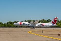 KYIV, UCRANIA - 26 DE MAYO DE 2018: Foto de un CSA - avión Airbus A319-112 de Czech Airlines, que es carta o asiduo Imagen de archivo libre de regalías