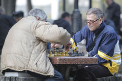 KYIV, UCRANIA - 18 de octubre de 2015: El parque de Shevchenko es el lugar más popular de Kiev Imágenes de archivo libres de regalías