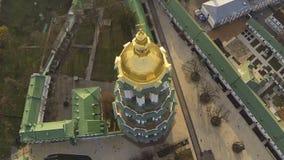 KYIV UKRAINA - April 6, 2016: Domkyrka av antagandet av den välsignade oskulden lager videofilmer