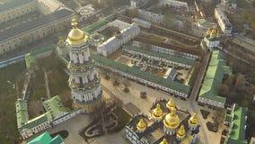 KYIV UKRAINA - April 6, 2016: Domkyrka av antagandet av den välsignade oskulden arkivfilmer