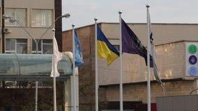 Kyiv Ukraina 19 april 2019 Presidents- debatt 2019 f?r UA Kyiv Olympiyskiy stadion stock video