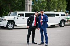 Kyiv Ukraina, Czerwiec, - 25, 2015: Dwa ma elegancki arabski biznesmen Obrazy Stock