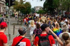 Kyiv Ukraina, Czerwiec, - 23, 2019 Marzec równość LGBT marsz KyivPride homoseksualna parada zdjęcie royalty free