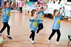 KYIV, UKRAINA GRUDZIEŃ 27: Euro tanów dzieci przyjęcie Obrazy Royalty Free