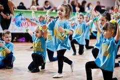 KYIV, UKRAINA GRUDZIEŃ 27: Euro tanów dzieci przyjęcie Zdjęcia Stock