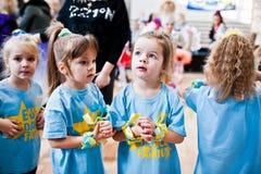 KYIV, UKRAINA GRUDZIEŃ 27: Euro tanów dzieci przyjęcie Zdjęcie Royalty Free