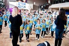KYIV, UKRAINA GRUDZIEŃ 27: Euro tanów dzieci przyjęcie Obrazy Stock