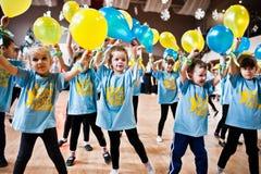 KYIV, UKRAINA GRUDZIEŃ 27: Euro tanów dzieci przyjęcie Zdjęcia Royalty Free