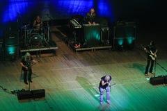 Kyiv UKRAINA, GRUDZIEŃ - 12, 2018: koncert zespół rockowy Uriah Heep Grudzień 12, 2018 w KYIV, Ukraina Nowy skrzyd?o obraz stock