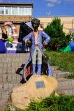 KYIV UKRAINA - JUNI 1, 2017, monument till den lilla prinsen i Kyiv, Ukraina Royaltyfria Bilder