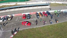 KYIV UKRAINA - Juni 28, 2017: Timeattack händelse på den Chayka autodromen arkivfilmer