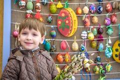 KYIV, UKRAINA KWIECIEŃ 9, 2017: Coroczna Wielkanocna wystawa Zdjęcia Stock