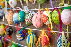 KYIV, UKRAINA KWIECIEŃ 9, 2017: Coroczna Wielkanocna wystawa Zdjęcia Royalty Free