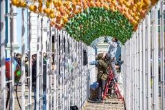KYIV, UKRAINA KWIECIEŃ 9, 2017: Coroczna Wielkanocna wystawa Fotografia Stock