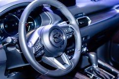 Kyiv Ukraina, Kwiecie?, - 12, 2019: Mazda 6 samochodu wn?trze obrazy royalty free