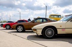 Kyiv Ukraina, Maj, - 11, 2019: Porsche 924 fotografia royalty free