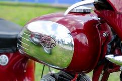Kyiv Ukraina, Maj, - 11, 2019: Stary JAWA motocykl fotografia stock