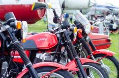 Kyiv Ukraina, Maj, - 11, 2019: Stary JAWA motocykl zdjęcia stock