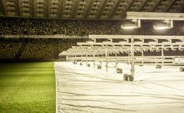 Kyiv, Ukraina - 02 Marzec, 2017: NSC Olimpiiskiy Środkowy stadium piłkarski w Ukraina Zdjęcia Royalty Free