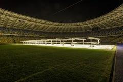 Kyiv, Ukraina - 02 Marzec, 2017: NSC Olimpiiskiy Środkowy stadium piłkarski w Ukraina Fotografia Stock