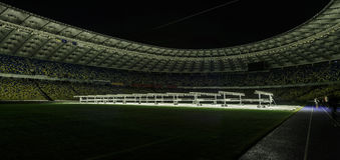 Kyiv, Ukraina - 02 Marzec, 2017: NSC Olimpiiskiy Środkowy stadium piłkarski w Ukraina Fotografia Royalty Free