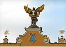 Kyiv, Ukraina Rzeźba archanioł Michael zdjęcie stock