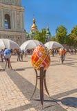 KYIV, UKRAINA: Ukraiński festiwal Wielkanocni jajka na th (Pysanka) Obrazy Royalty Free