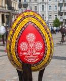KYIV, UKRAINA: Ukraiński festiwal Wielkanocni jajka na th (Pysanka) Obrazy Stock