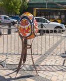 KYIV, UKRAINA: Ukraiński festiwal Wielkanocni jajka na th (Pysanka) Fotografia Stock