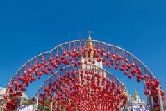 KYIV UKRAINA: Ukrainsk festival av påskägg (Pysanka) i t Royaltyfri Bild