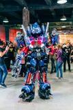 KYIV UKRAINA, WRZESIEŃ, - 9, 2018: Transformatoru Optimus prima co obrazy royalty free