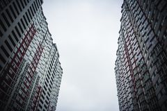 Kyiv, Ukraina wysoki budynek mieszkanie w domu obrazy royalty free