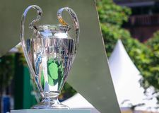 Champions League Cup stock photography
